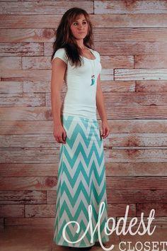 Olivia Chevron Maxi Skirt