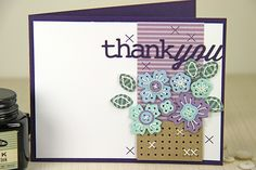 Thank You Card by Erin Lincoln for Papertrey Ink (March 2015)