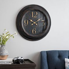 Tortoise Large Dial Wall Clock | Kirklands