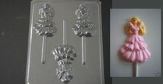 BARBIE DOLL in DRESS Lollipop Chocolate Candy Soap Mold