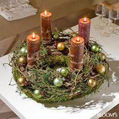 I'd take out all the little ornaments, but this is a great advent wreath