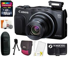 Introducing Canon PowerShot SX710 HS 203MP Super 30x Optical Zoom Digital Camera Black  Case  Tripod  16GB Accessories Bundle. Great Product and follow us to get more updates!