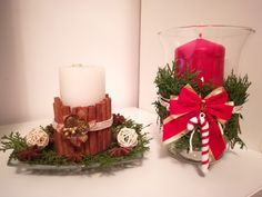 Christmas candles decorations