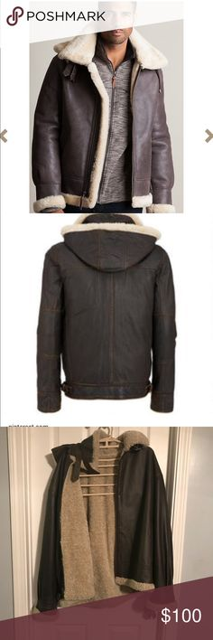 Like new Wilson's Leather bomber jacket Only worn a couple of times, and just hanging in the closet.  There is one pin hole on the back, but not noticeable at all and you have to actually look for it.  This is a heavy coat and very warm. Wilsons Leather Jackets & Coats Bomber & Varsity