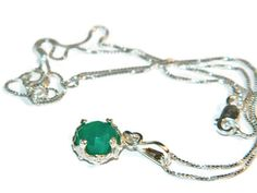 Green Chalcedony Necklace Sterling Silver by JewelrybyDecember67, $44.00