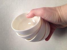 Small porcelain bowls.