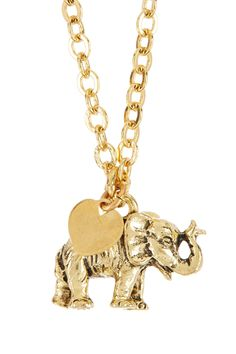 Elephant Love Pendant Necklace by Zsa Zsa Jewels on @nordstrom_rack