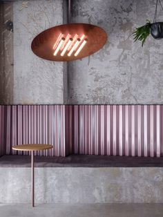 Rare Restaurant by Crosby Studios Rare Pastrami Bar glows with its pink, gleaming interiors Bar Interior, Restaurant Interior Design, Commercial Interior Design, Commercial Interiors, Modern Interior Design, Interior Design Inspiration, Design Studio, Cafe Design, Design Design