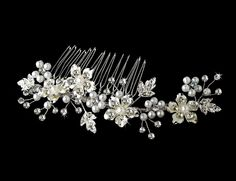 Rhinestone & Pearl Bridal Comb 039