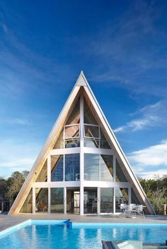 A-Frame Residence, New York, USA by Bromley...
