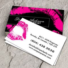 30 best avon business cards ideas images on pinterest business hot pink makeup business cards you can customize this card with your own text cheaphphosting Image collections