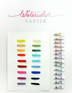 Watercolor basics and tutorial