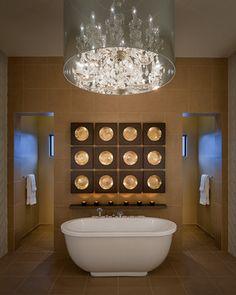 Modern Glamour - Contemporary - Bathroom - Phoenix - Angelica Henry Design  --Floating shelf