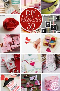 30 DIY Valentines for kids to make and give.  There are a bunch of non-candy ideas!!