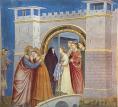 giotto di bondone | GIOTTO di Bondone Anna and Joachim Meet at the Golden Gate oil ...