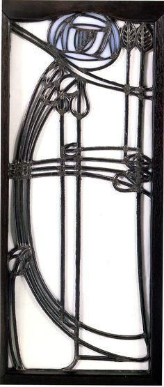 Margaret Macdonald Mackintosh, Window, detail of a cupboard, 1898-1899