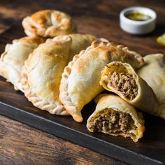 Minced meat recipes - simply delicious - Empanadas are fried dumplings from South America that can be filled at will … - Shrimp Recipes, Meat Recipes, Minced Meat Recipe, Beef Empanadas, Savory Pastry, Meat Appetizers, Best Side Dishes, Main Dishes, Vegetable Stew