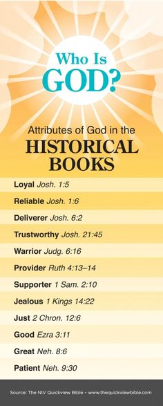 The Quick View Bible » Attributes of God in the Historical Books