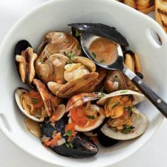 White Wine and Olive Oil Steamed Mussels | Fish and Seafood ...