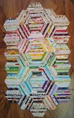 Selvage Hexagons from Jerusalem...have got this started already :)