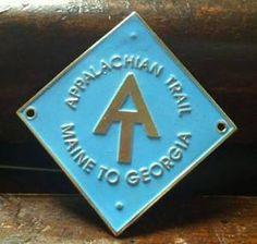 Appalachian Trail At Walking Stick Hiking Medallion Staff