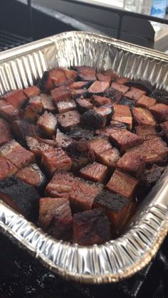 Burnt Ends - Brisket Point Cubed then Re-smoked to Perfection!