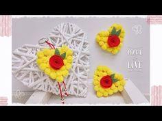 """Cuor di Mimosa"": calamita, spilla & portachiavi - YouTube Deco, Diy And Crafts, Crochet Earrings, Crochet Hats, Nail Art, Creative, Flowers, Youtube, Party Ideas"