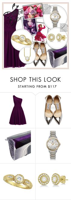 """""""Be different"""" by aaidaa ❤ liked on Polyvore featuring Jimmy Choo, Khirma Eliazov, Allurez and Morris & David"""