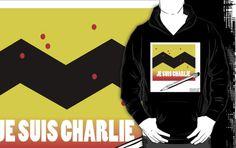 #JeSuisCharlie #Hoodie 2 Benefit #CharlieHebdo by @LTCartoons #redbubble #paris #france #terror #benefit #gift #sale #collectible #fashion