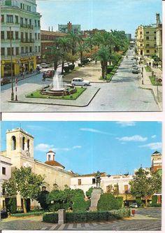 Badajoz,  Avenida general varela y Plaza de Cervantes. sin circular