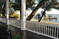 Porch on Mobile Bay...in Orange, AL. Love this house <3