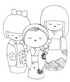 Geisha  perfect for hand embroidery, coloring pages  I do not know the origin.  Please link this to the owner.