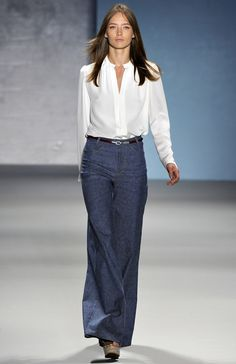 Classic shirt and denim trousers from Derek Lam