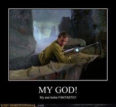 Kirk's fascination with Kirk, Star Trek Humor.
