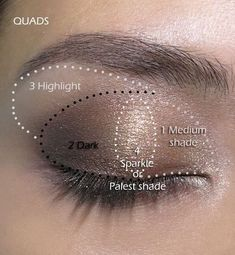 16 Easy Step-by-Step Eyeshadow Tutorials for Beginners: Neutral Glitter Look How To Do Eyeshadow, Eyeshadow Basics, Eyeshadow Step By Step, Smoky Eyeshadow, Blending Eyeshadow, Makeup Step By Step, Eyeshadow Makeup, Eyeshadows, Eyeshadow Steps