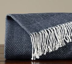 Herringbone Throw | Pottery Barn