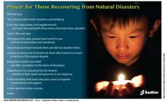 Prayer for Those Recovering from a Natural Disaster  #Catholic #Catholics #Prayer