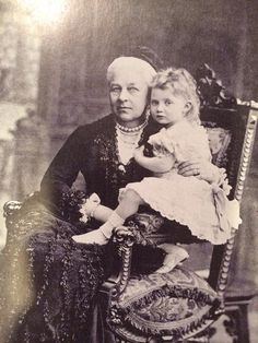 Queen Marie of Hanover was born Marie of Saxe-Altenburg (1818- 1907).   Marie was nearly all German, although she had one great-great grandfather who was king of the Netherlands and a great-great grandmother who was Anne, the Princess Royal of the United Kingdom.  Marie married well, her remote cousin, the blind prince George of Cumberland, and had three children with him.    Marie is seen here with her granddaughter Marie Louise.