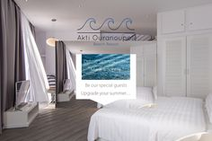 """Deluxe Sea View Suite """"Marie"""" of Hotel Akti Ouranoupoli Two Bedroom, Special Guest, Beach Resorts, Four Square, Luxury, Taxi, Sea, Design, Home Decor"""