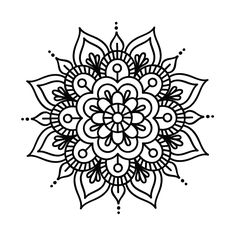 Mandala Doodle, Mandala Art Lesson, Art Doodle, Mandalas Drawing, Mandala Coloring Pages, Colouring Pages, Simple Mandala Tattoo, Tattoos Mandala, Mandala Design