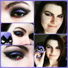 Raven Inspired Makeup from Teen Titans
