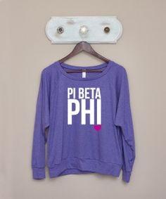 Pi Beta Phi LS Tri-Blend Pullover / Heart