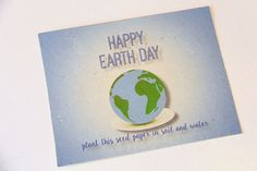 Seed Paper Earth Day Postcard | MyPrintly