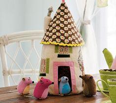 cute fabric house