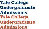 Yale College Undergraduate Admissions