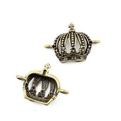 * Penny Deals * - Qty:1PC Antique Bronze Jewelry Making Charms Findings Supplies Craft Ancient Repair Lots DIY Antique Pendant Vintage Z713639 Crown Connector *** Click image to review more details.