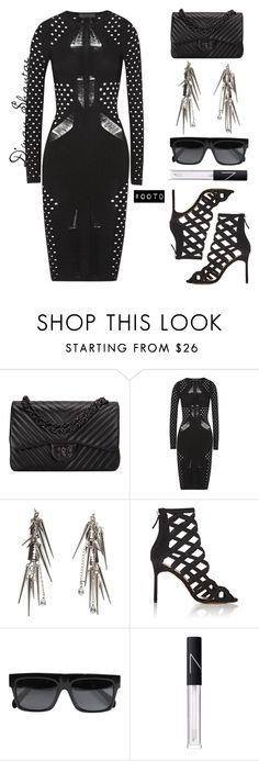 """""""#OOTD - Cushnie Et Ochs Dress, Chanel Bag, Manolo Blahnik Sandals"""" by adswil ❤ liked on Polyvore featuring Chanel, Cushnie Et Ochs, Glynneth B, Manolo Blahnik, CÉLINE, NARS Cosmetics, women's clothing, women, female and woman"""