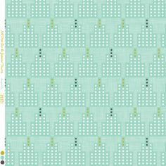ArtDeco Towers Rio De Janeiro aqua fabric by zesti on Spoonflower - custom fabric