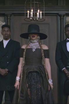 Beyoncé wearing  Dylanlex Falkor II Statement Necklace, Dylanlex Ivy Earrings, Dylanlex Rocky Bracelet, Dylanlex Rhys Bracelet
