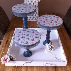 Wat een gave taartplateaus! Bijna zonde om te verbergen onder taarten ;) | DIY met spullen van de Action | bespaarmama.nl
